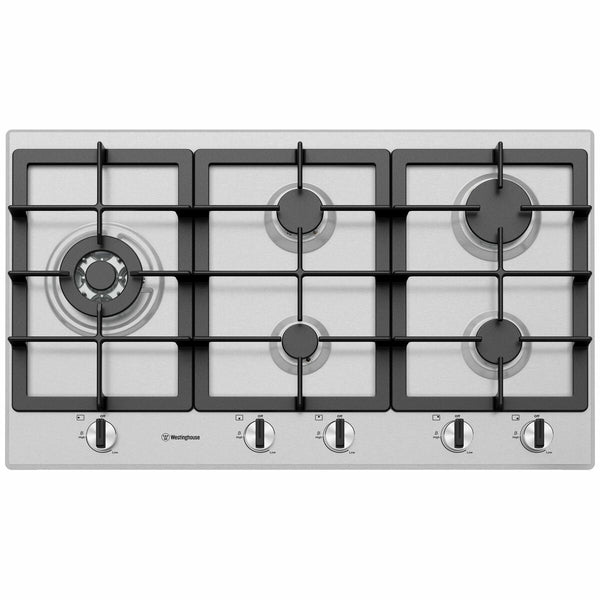 Westinghouse WHG954SC 90cm Stainless Steel Gas Cooktop