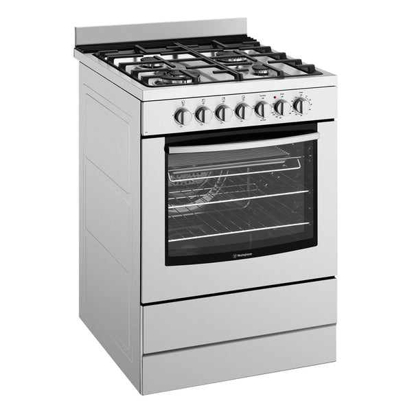 WESTINGHOUSE WFE616SA 60cm Freestanding Dual Fuel Oven/Stove - Stove Doctor