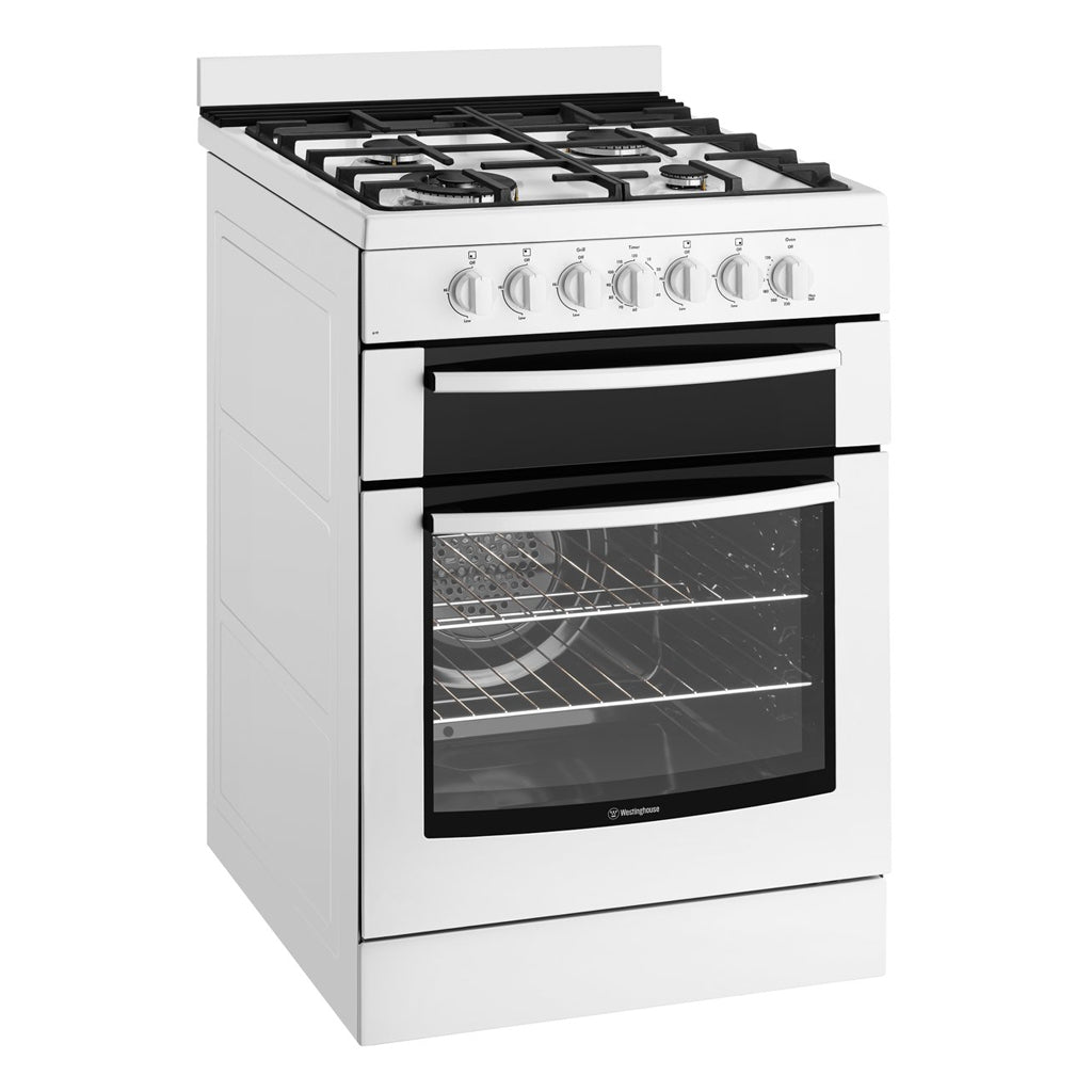 WESTINGHOUSE WFE619WA 60cm Freestanding Natural Gas Stove - Stove Doctor