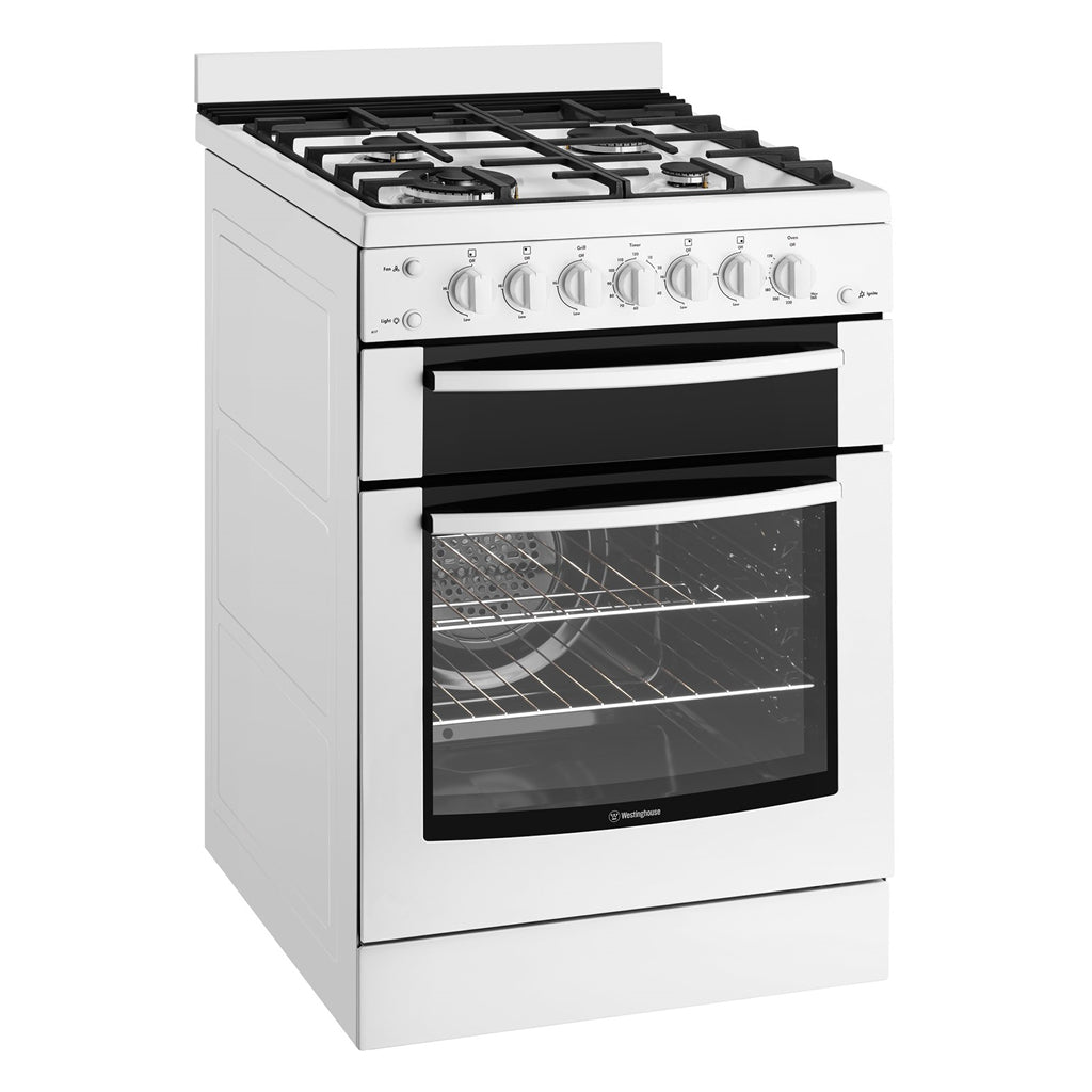 WESTINGHOUSE WFG617WA 60cm Freestanding Natural Gas Stove - Stove Doctor