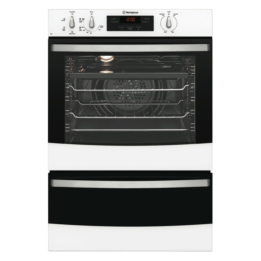 WESTINGHOUSE WVE665W Electric Wall Oven With Separate Grill