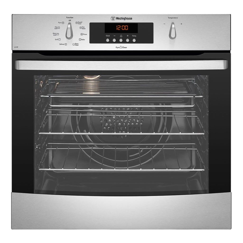 Westinghouse WVEP615S 60 cm Electric Built In Pyrolytic Oven - Stove Doctor