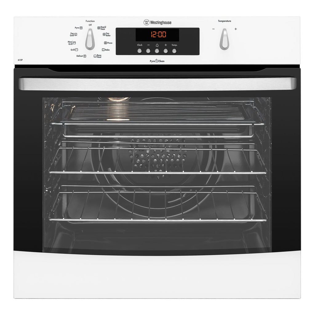 Westinghouse WVEP615W 60 cm Electric Built In Pyrolytic Oven - Stove Doctor
