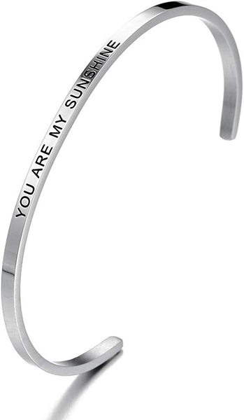 HAQUIL ''You are My Sunshine'' Personalized Cuff Bracelet