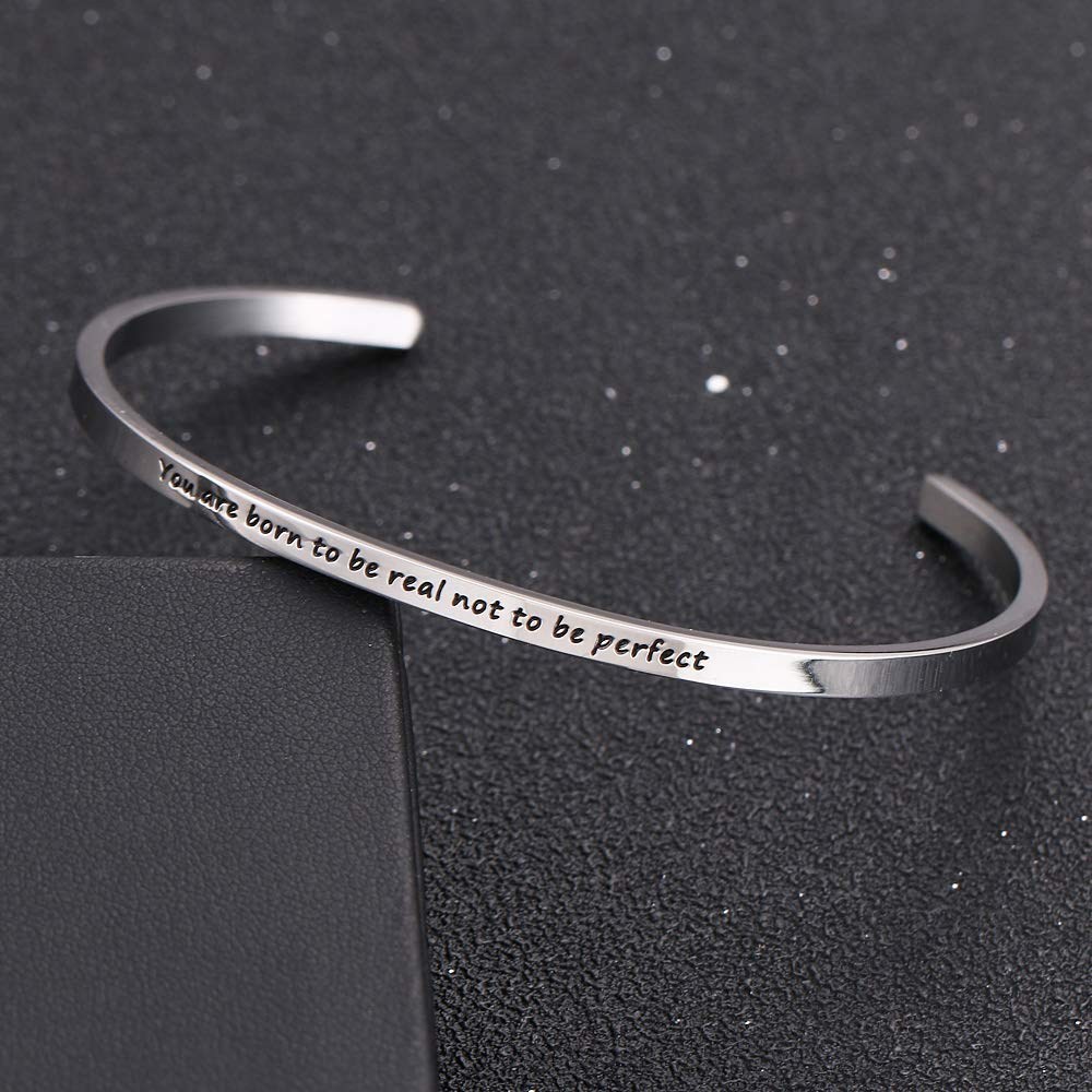 HAQUIL ''You are Born to be Real'' Personalized Cuff Bracelet