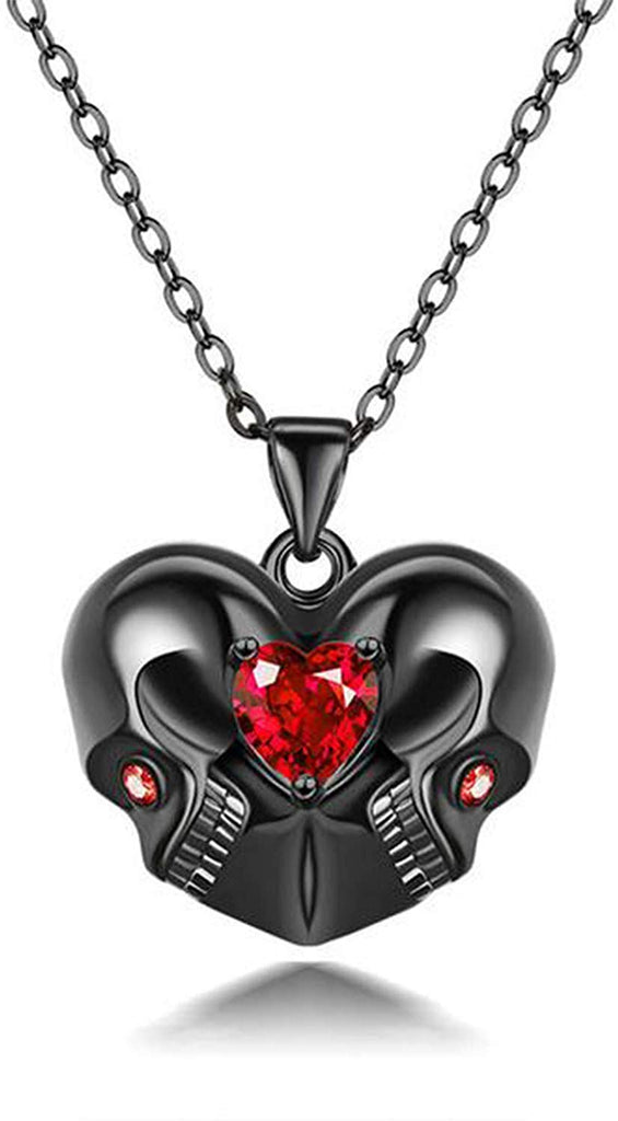 HAQUIL Crystal Love Eternal Skull Necklace