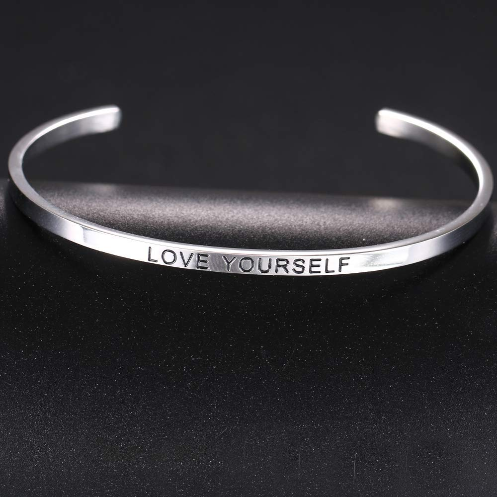 HAQUIL ''Love Yourself'' Personalized Cuff Bracelet