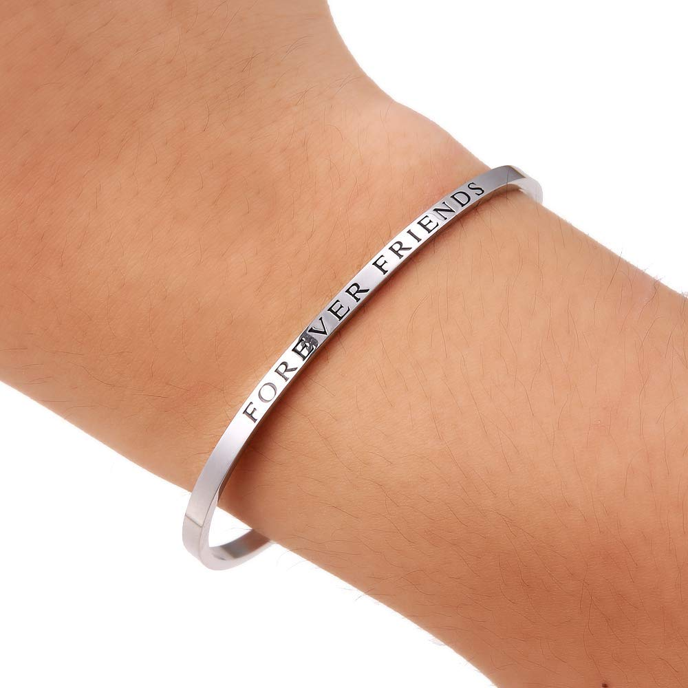 HAQUIL ''Forever Friends''  Personalized Cuff Bracelet