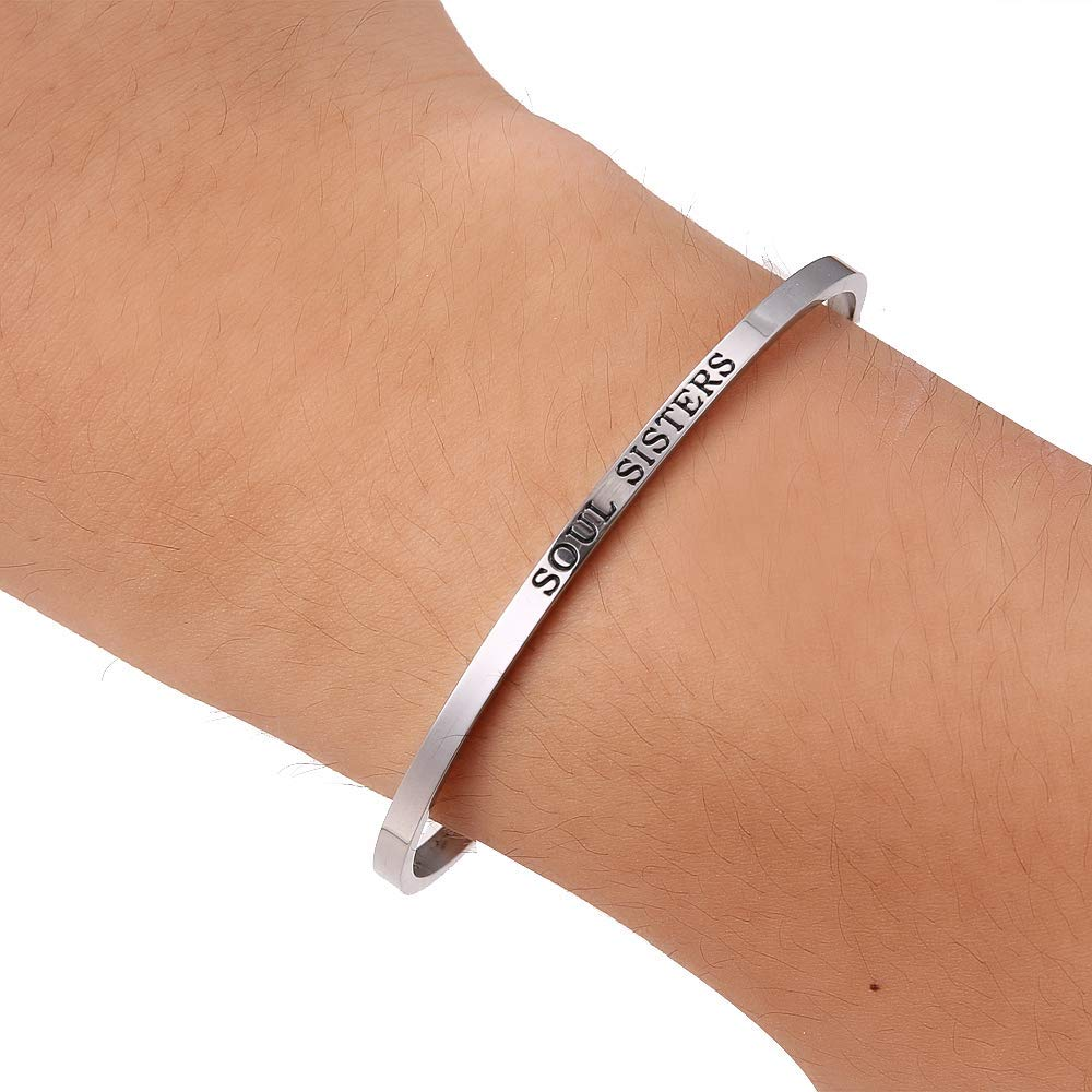 HAQUIL ''Soul Sisters'' Personalized Cuff Bracelet