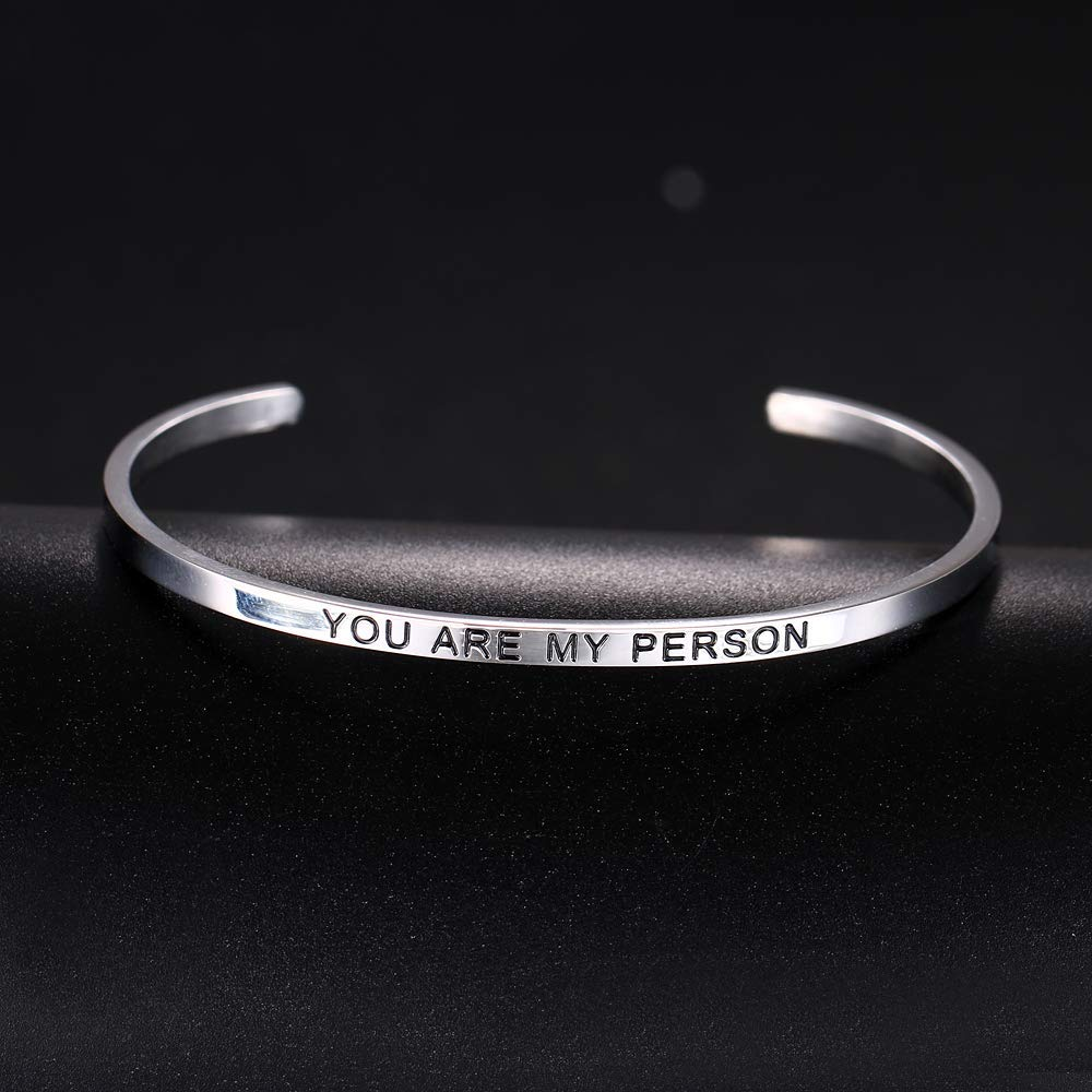 HAQUIL ''You are My Person'' Personalized Cuff Bracelet