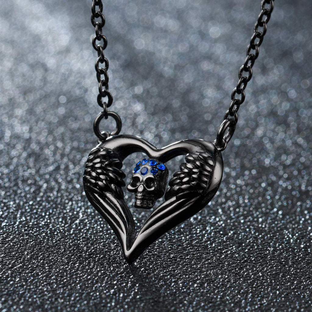HAQUIL Crystal Skull in My Heart Necklace