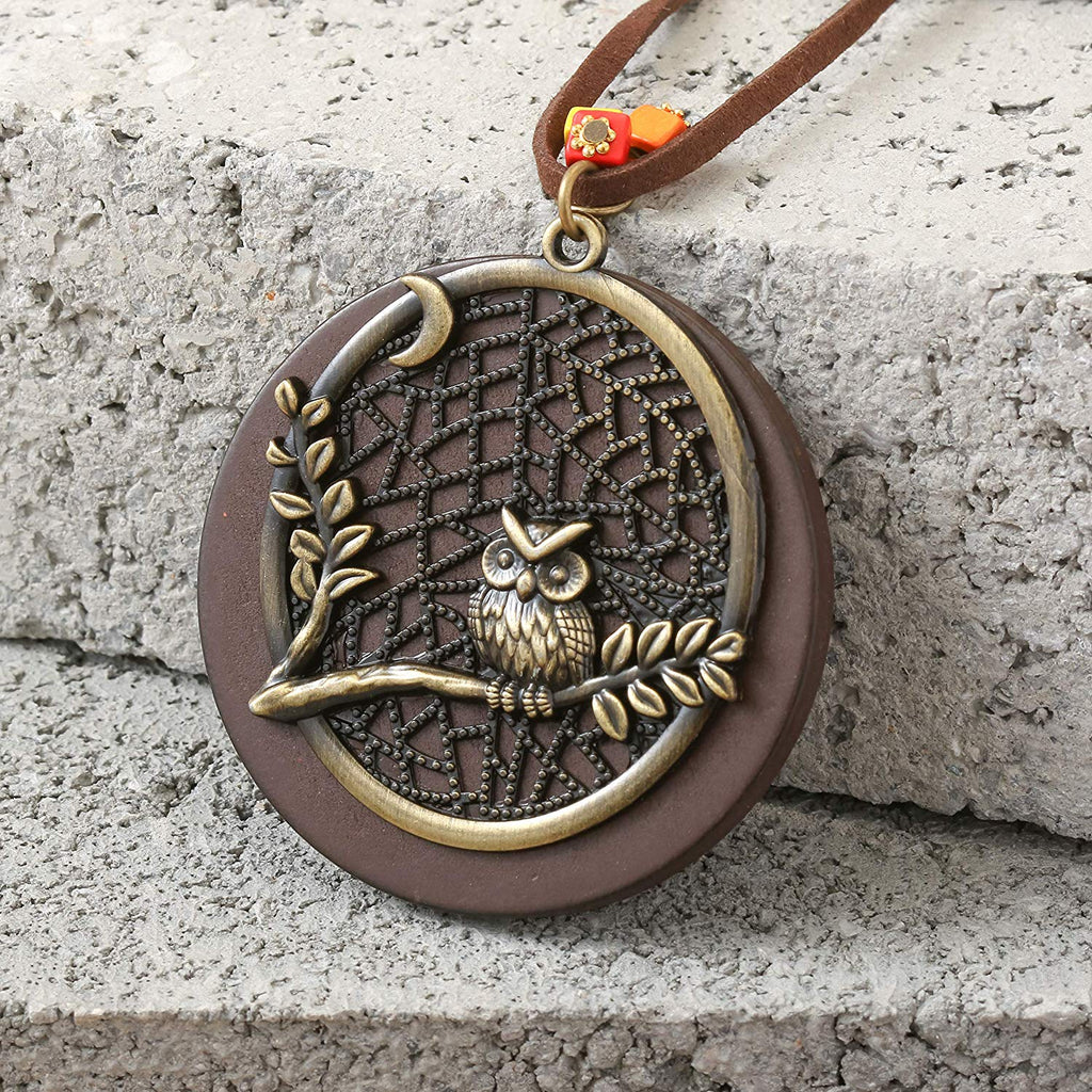 HAQUIL Vintage Long and Large Pendant Owl Necklace