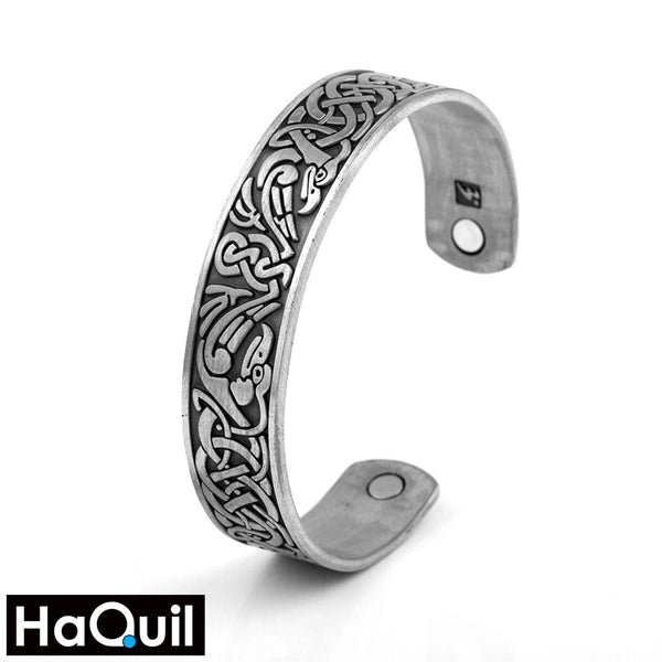 Haquil Punk Antique Phoenix Totem Magnet Bracelet Alloy / Womens Metal Jewelry