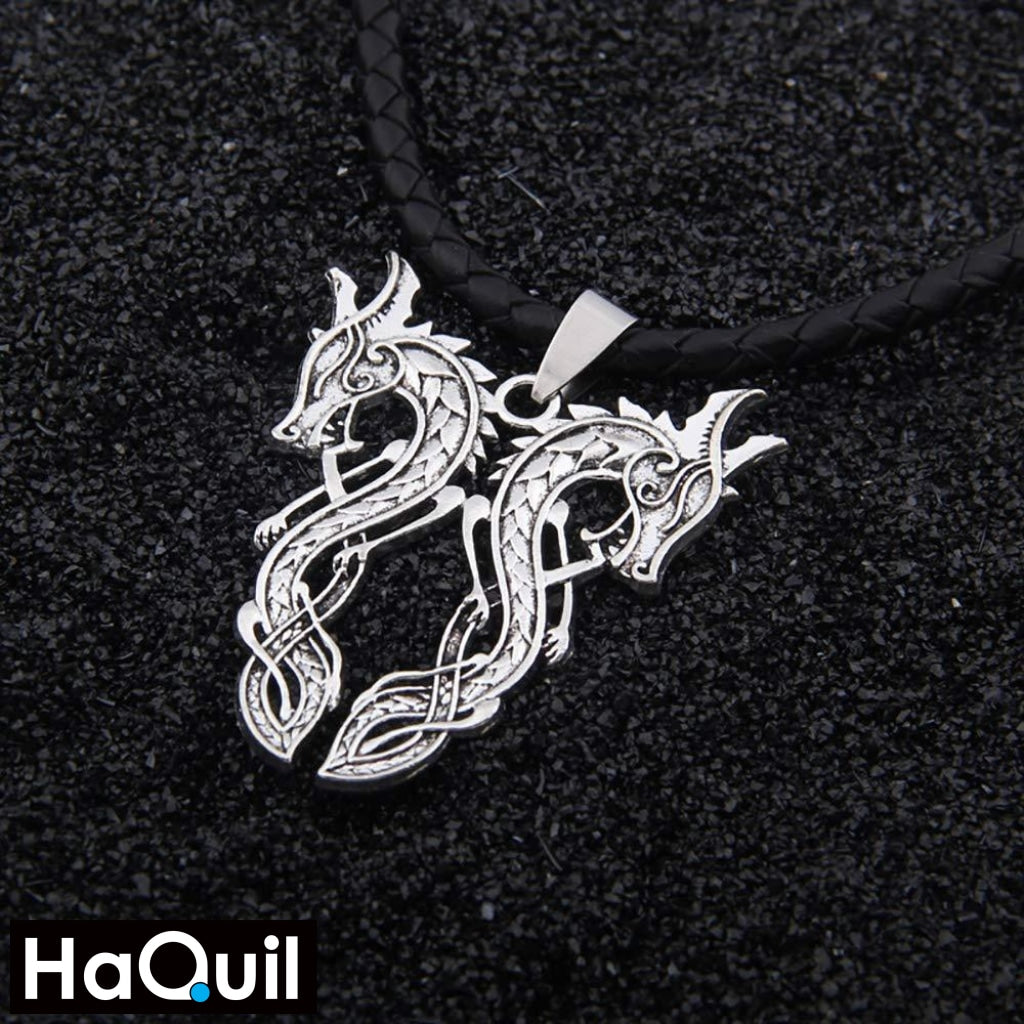 Haquil Punk Chic Couple Dragon Necklace Jewelry
