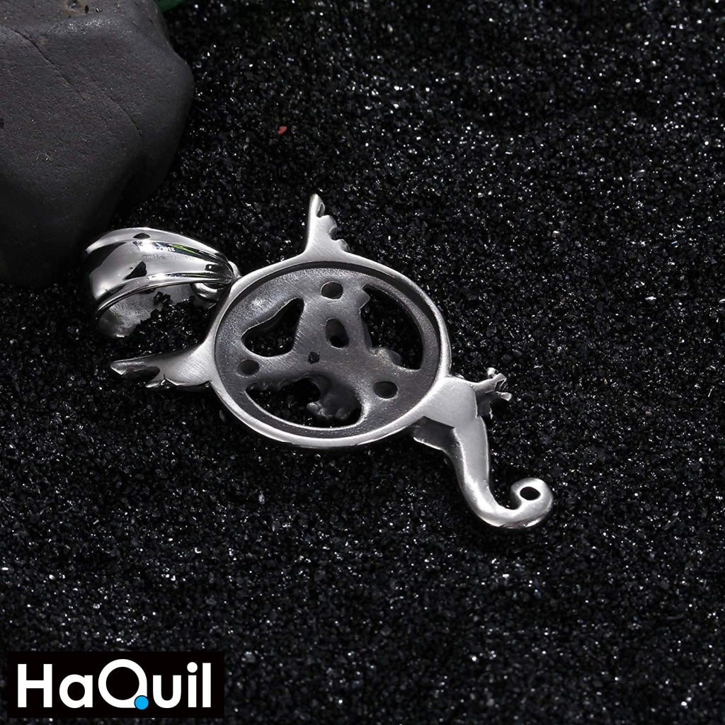 Haquil Punk Flying Dragon Necklace Jewelry