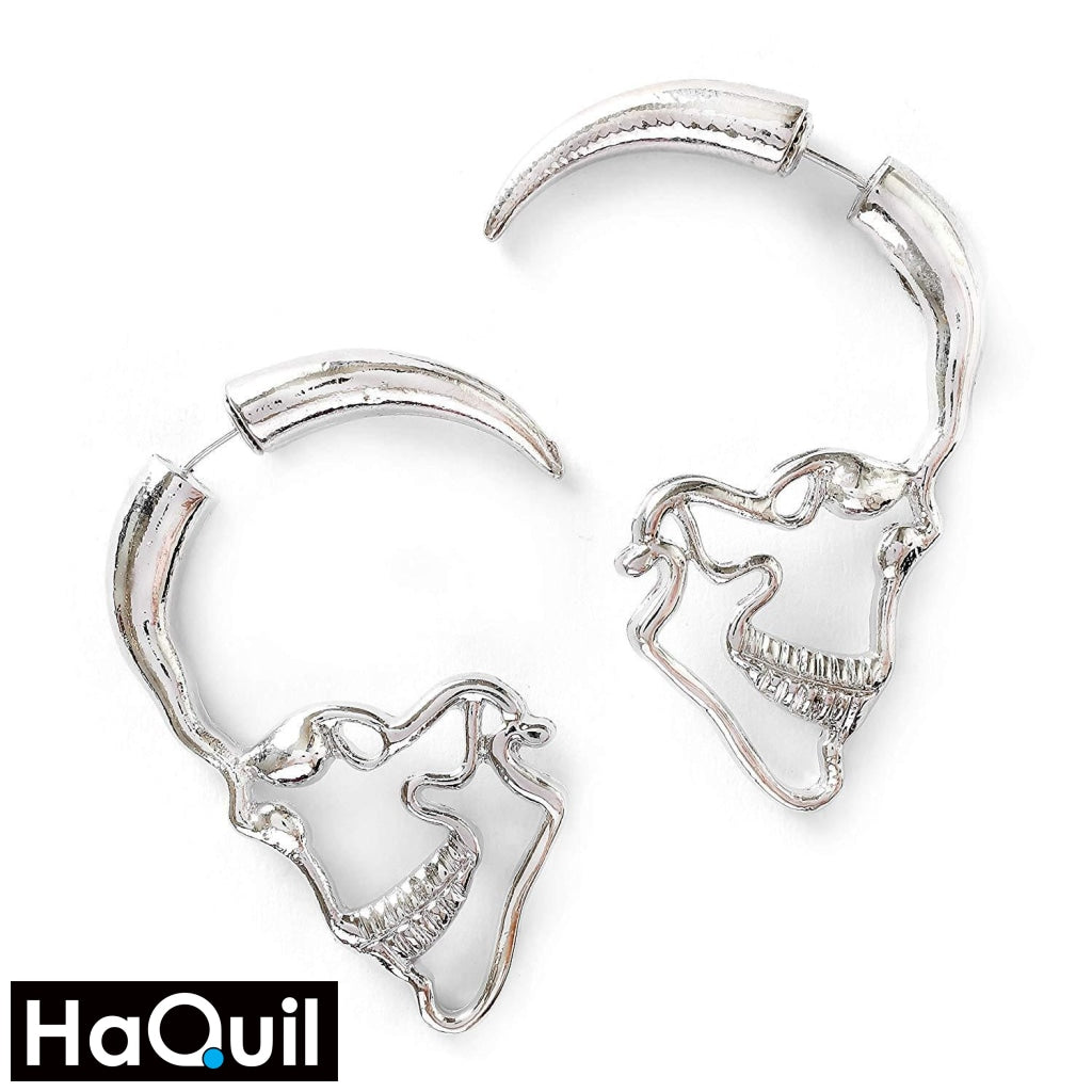 Haquil Punk Hollow Skull Earrings Alloy / Boys Metal Jewelry