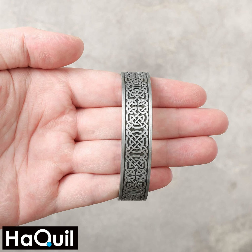Haquil Punk Hologram Viking Knot Magnet Bracelet Jewelry