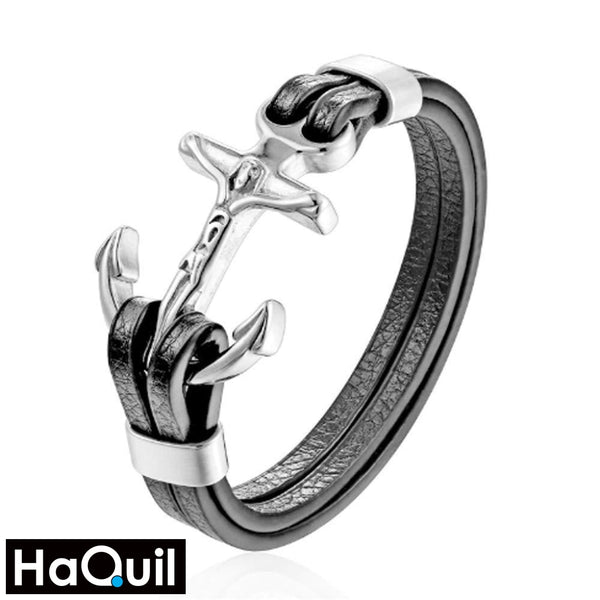 Haquil Punk Holy Anchor Bracelet Stainless-Steel / Womens Metal Jewelry