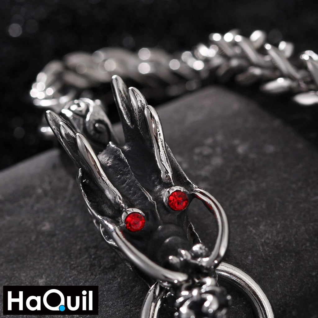 Haquil Punk Red Eyes Dragon Bracelet Jewelry