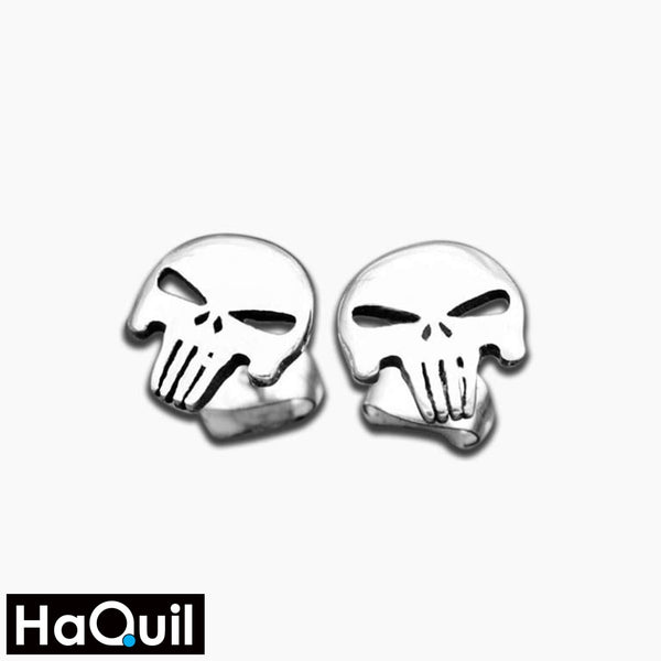 Haquil Punk Rock Skull Earrings Stainless-Steel / Womens Metal Jewelry