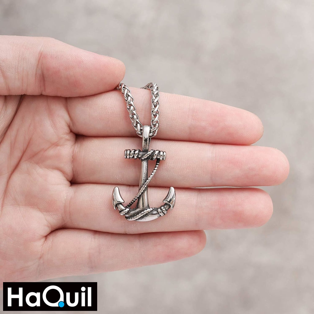 Haquil Punk Rope Anchor Necklace Jewelry