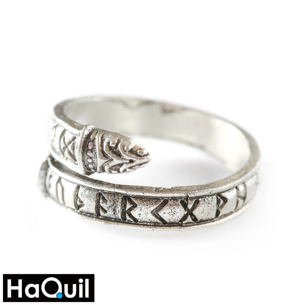 Haquil Punk Silver Two Heads Dragon Ring Alloy / Womens Metal Jewelry