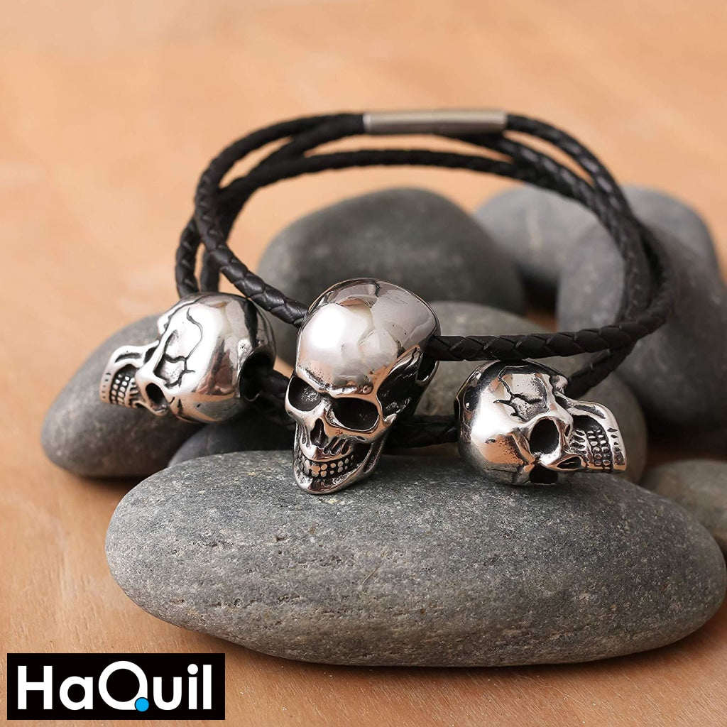 Haquil Punk Skull Charms Biker Necklace Jewelry