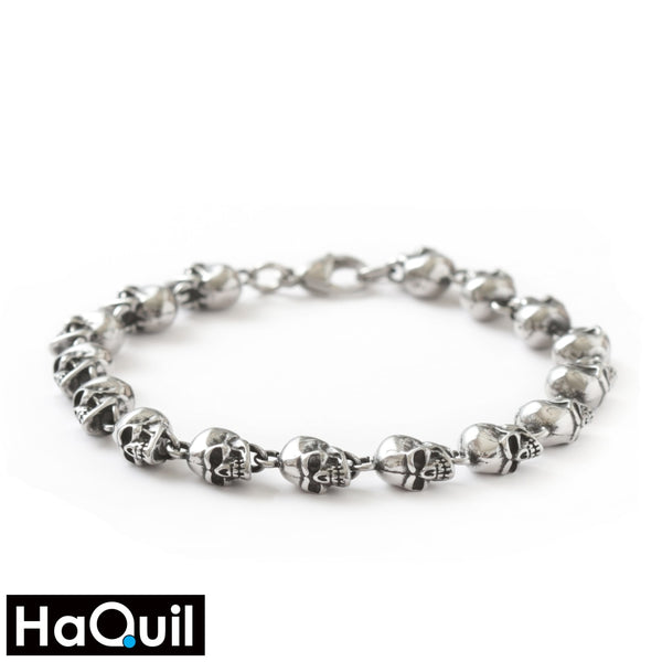 Haquil Punk Skull Links Charms Bracelet New Jewelry