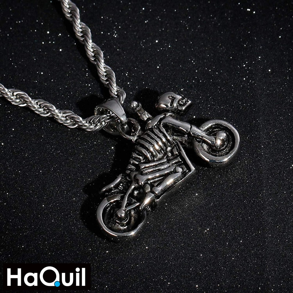 Haquil Punk Skull Rider Necklace Jewelry