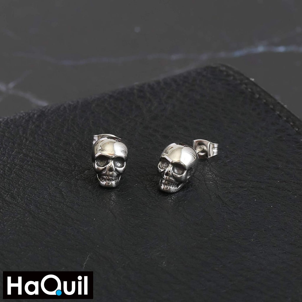 Haquil Punk Skull Stud Earrings Jewelry