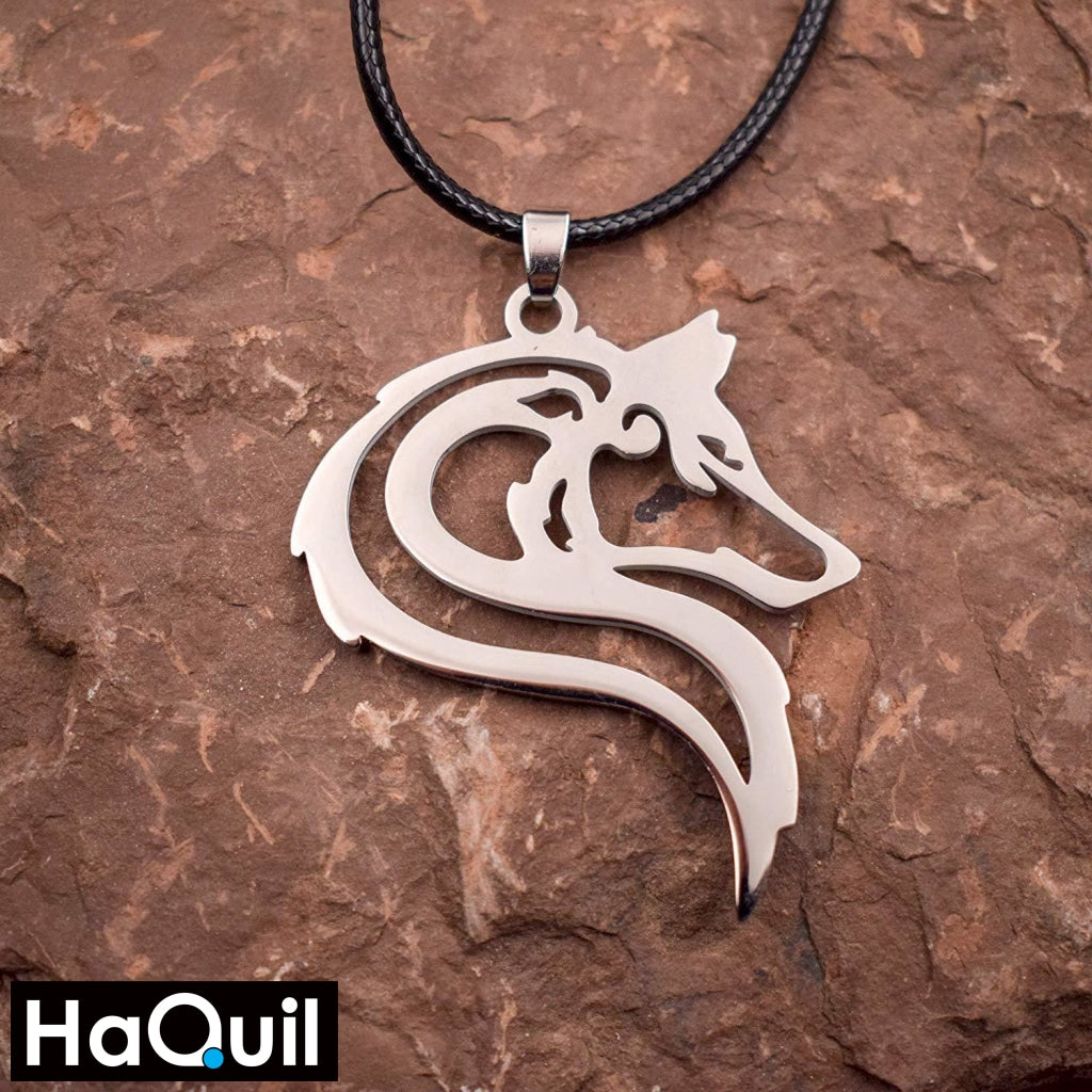 Haquil Punk Tribal Wolf Necklace Jewelry