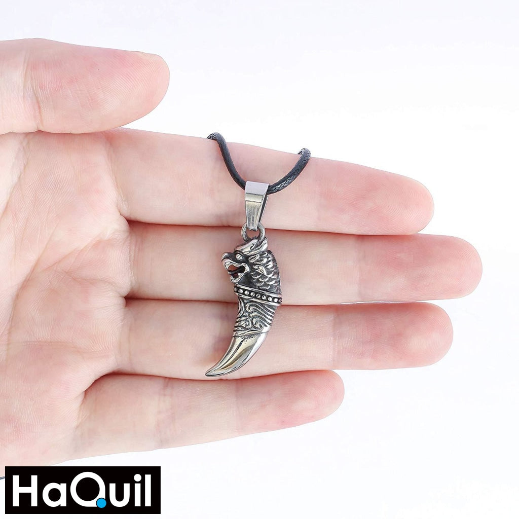 Haquil Punk Wolf Tooth Necklace Jewelry