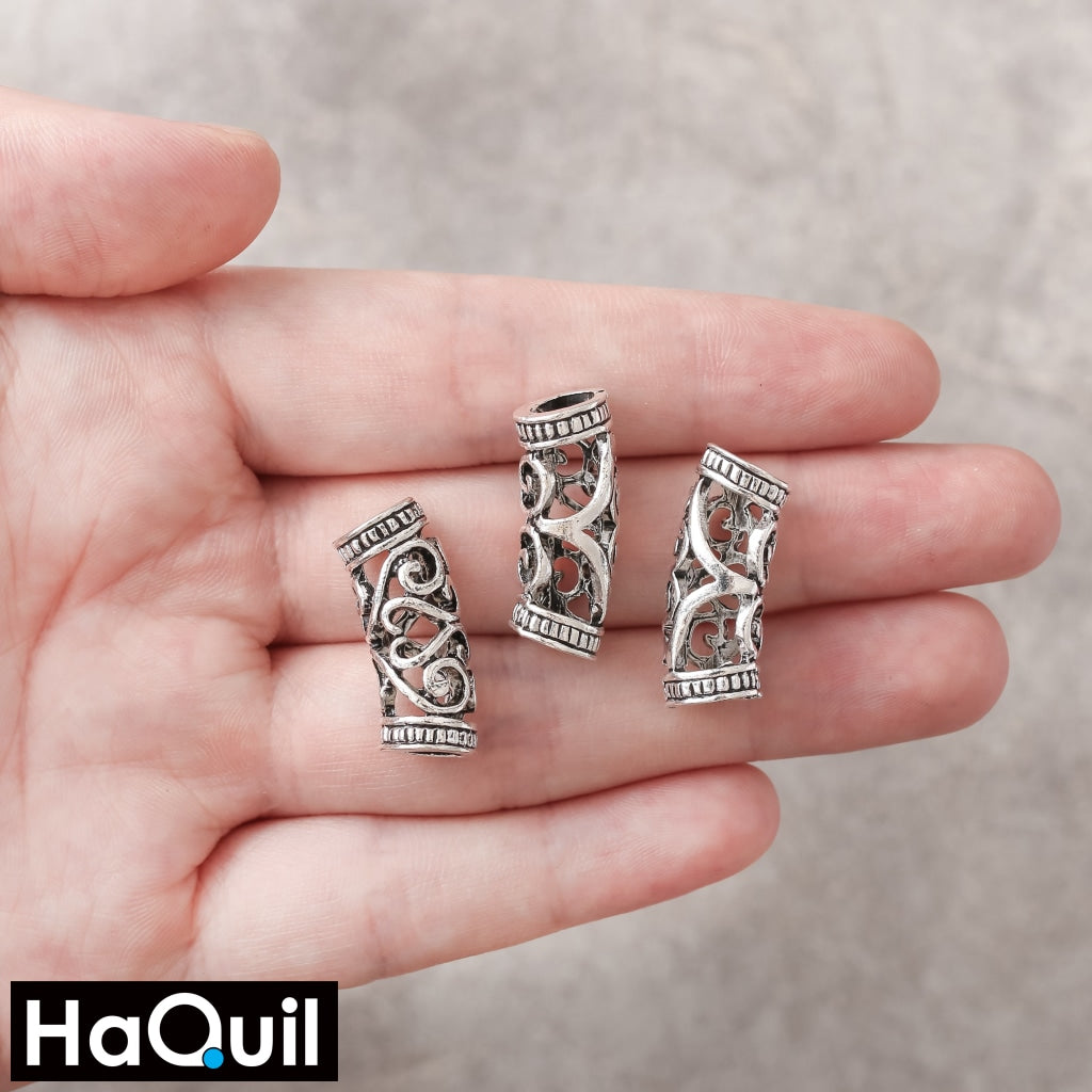Haquil Viking 10Pcs Norse Swirl Bead Hair Clips Beauty