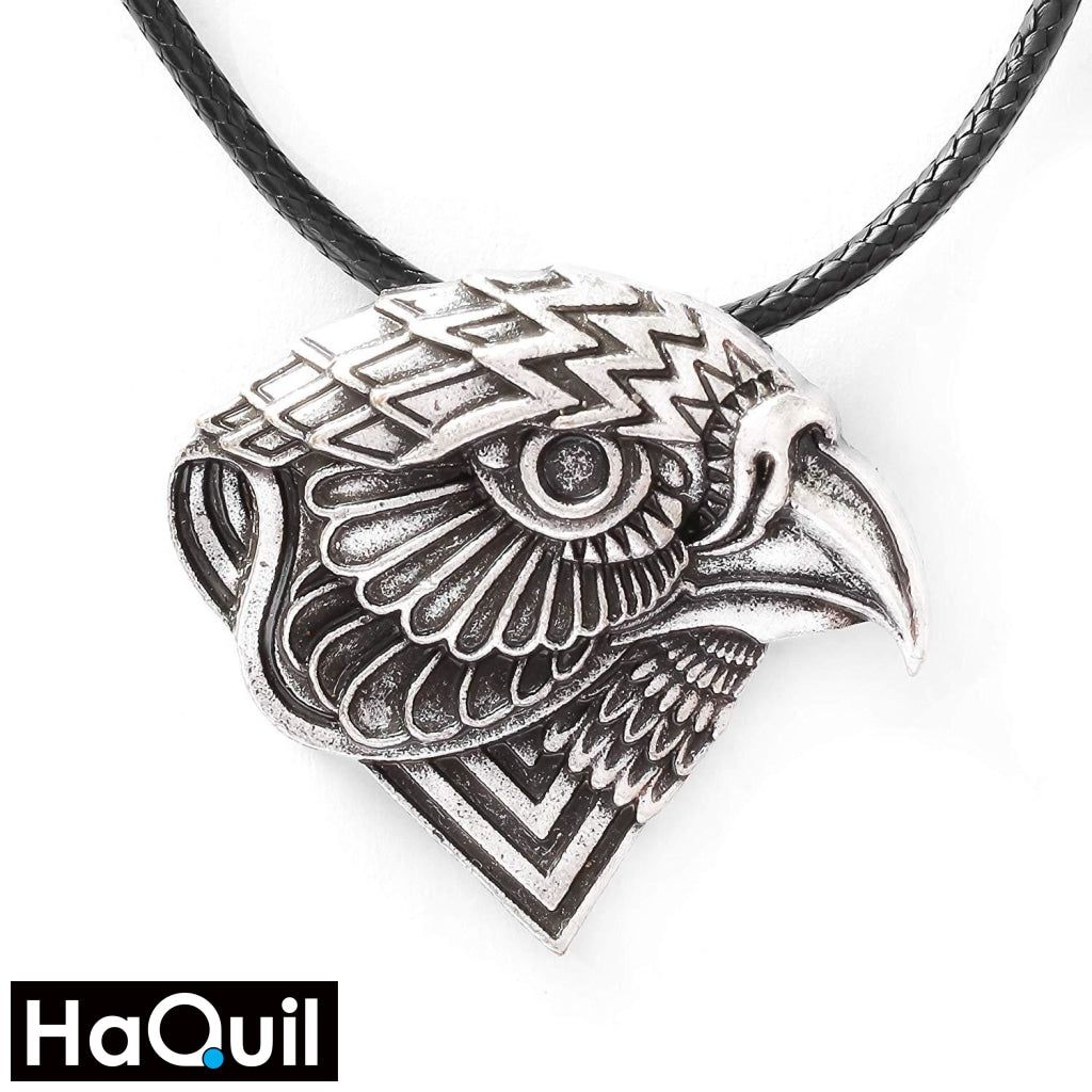Haquil Viking Abstract Protection Eagle Head Necklace Alloy / Womens Metal Jewelry