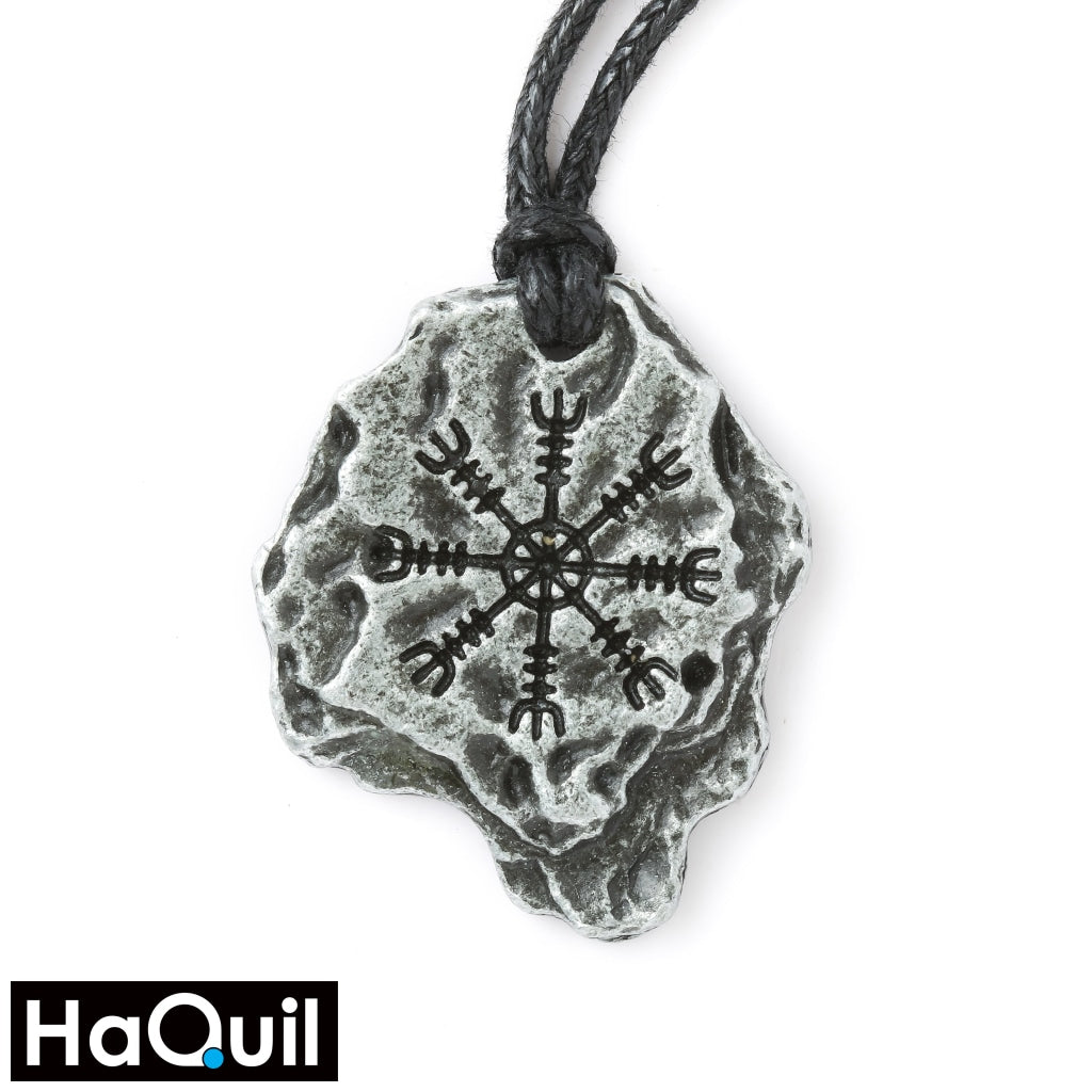 Haquil Viking Aegishjalmr Helm Of Awe Necklace Alloy / Womens Metal Jewelry