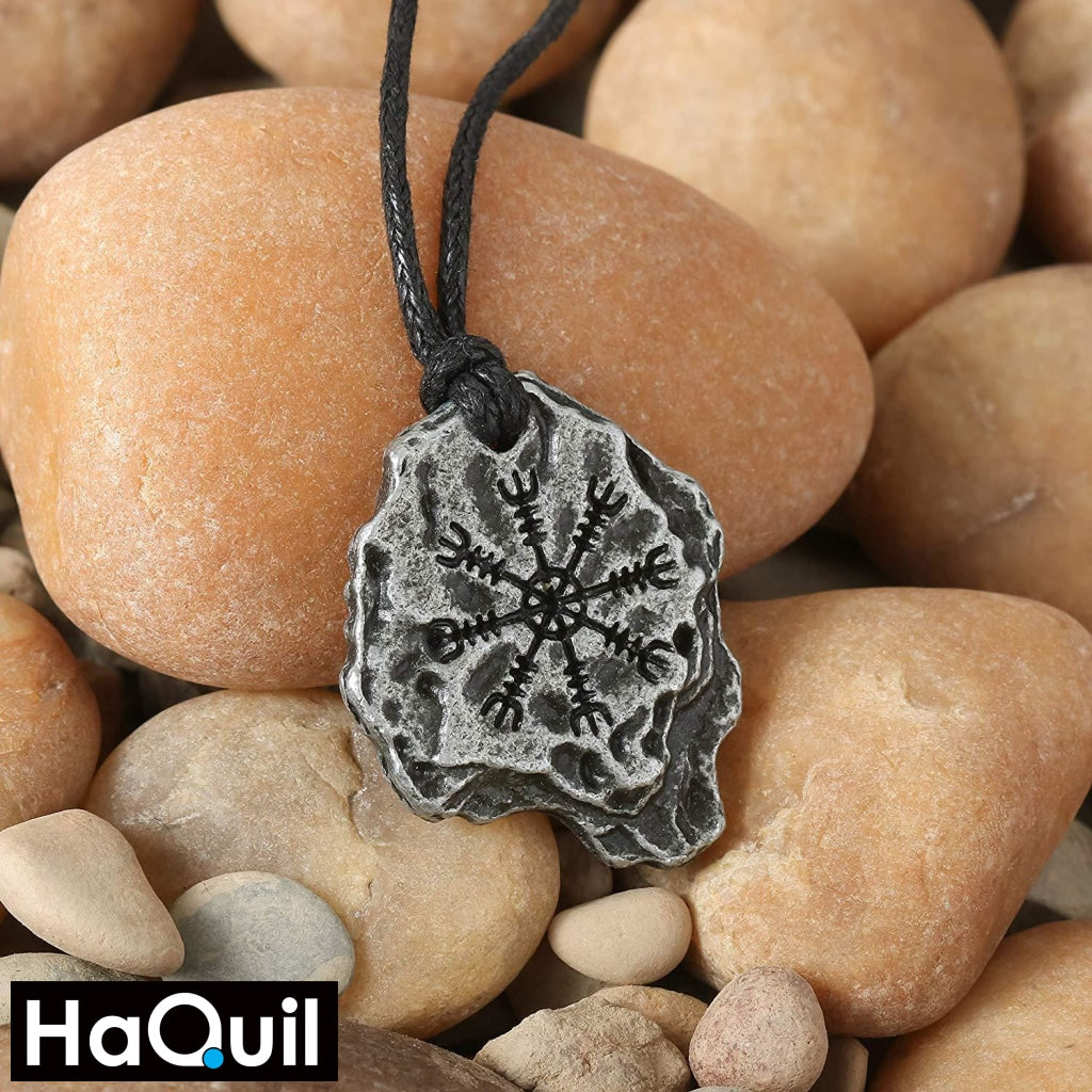 Haquil Viking Aegishjalmr Helm Of Awe Necklace Jewelry