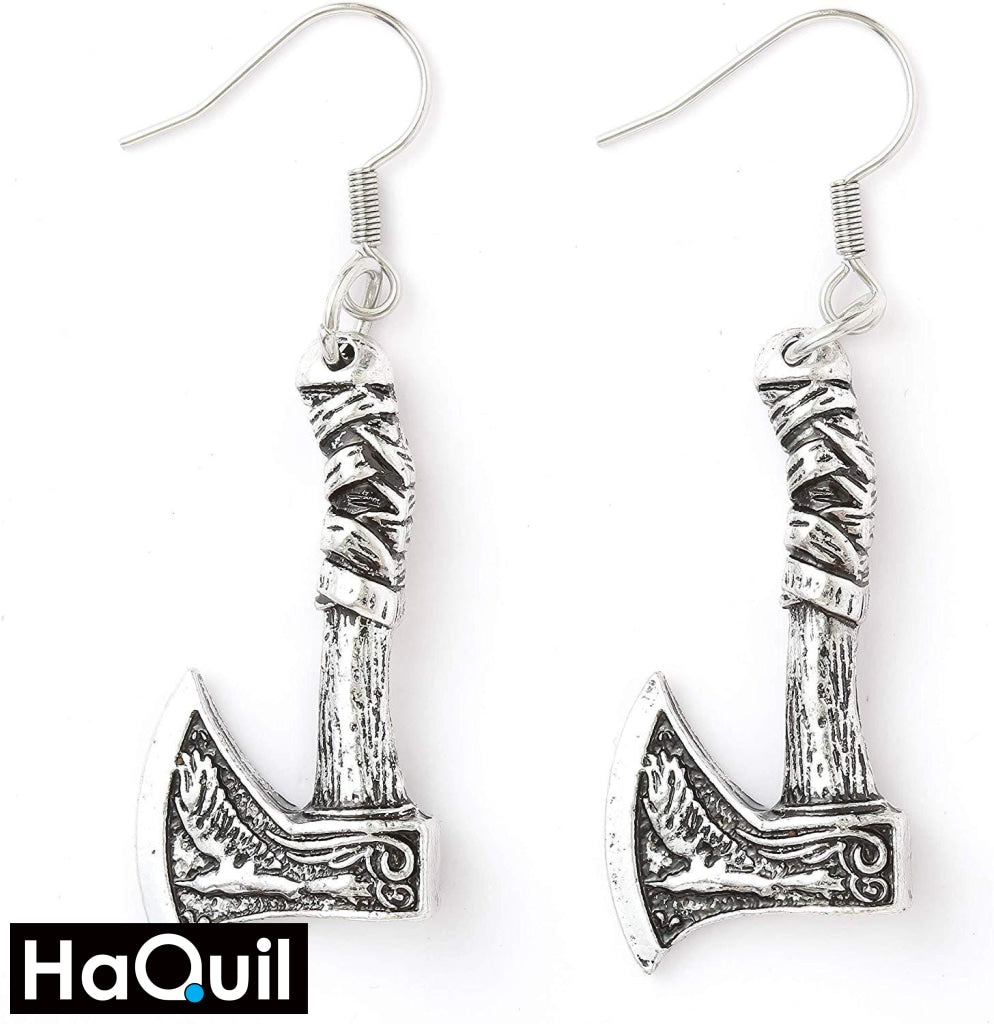 Haquil Viking Amulet Axe Raven Earrings Alloy / Boys Metal Jewelry