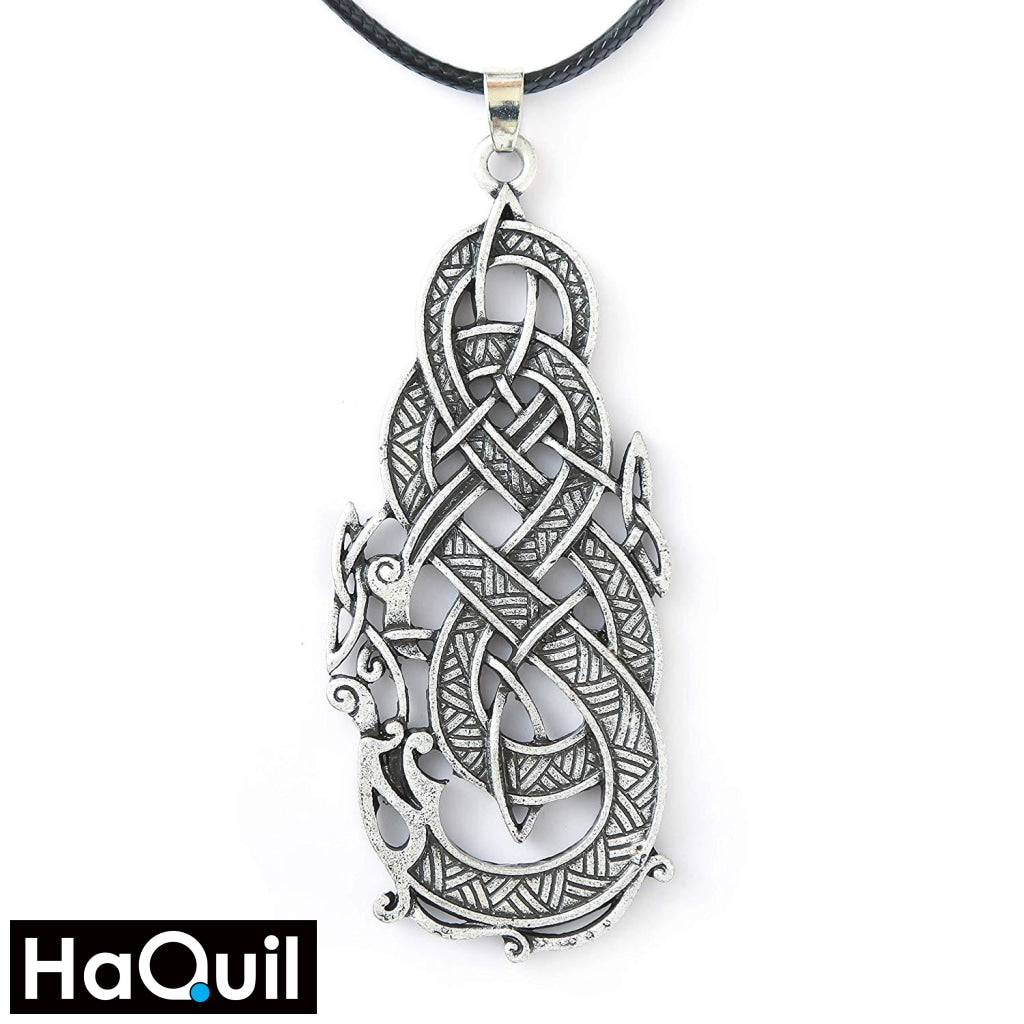 Haquil Viking Celtic Dragon Eat Its Tail Necklace Alloy / Womens Metal Jewelry