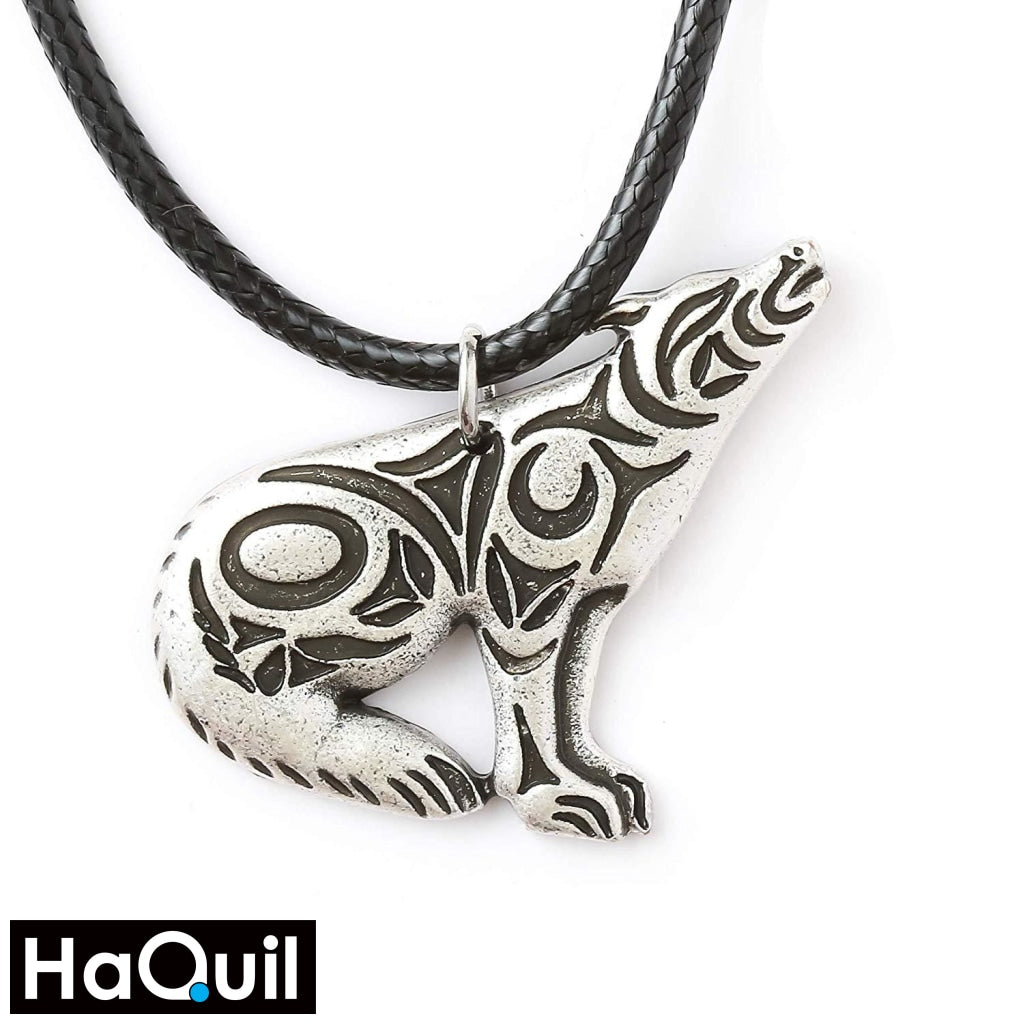Haquil Viking Celtic Howling Wolf Necklace Alloy / Womens Metal Jewelry