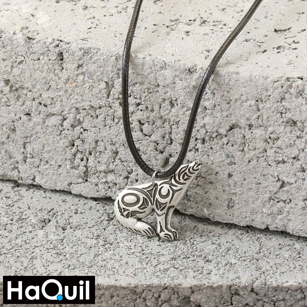 Haquil Viking Celtic Howling Wolf Necklace Jewelry