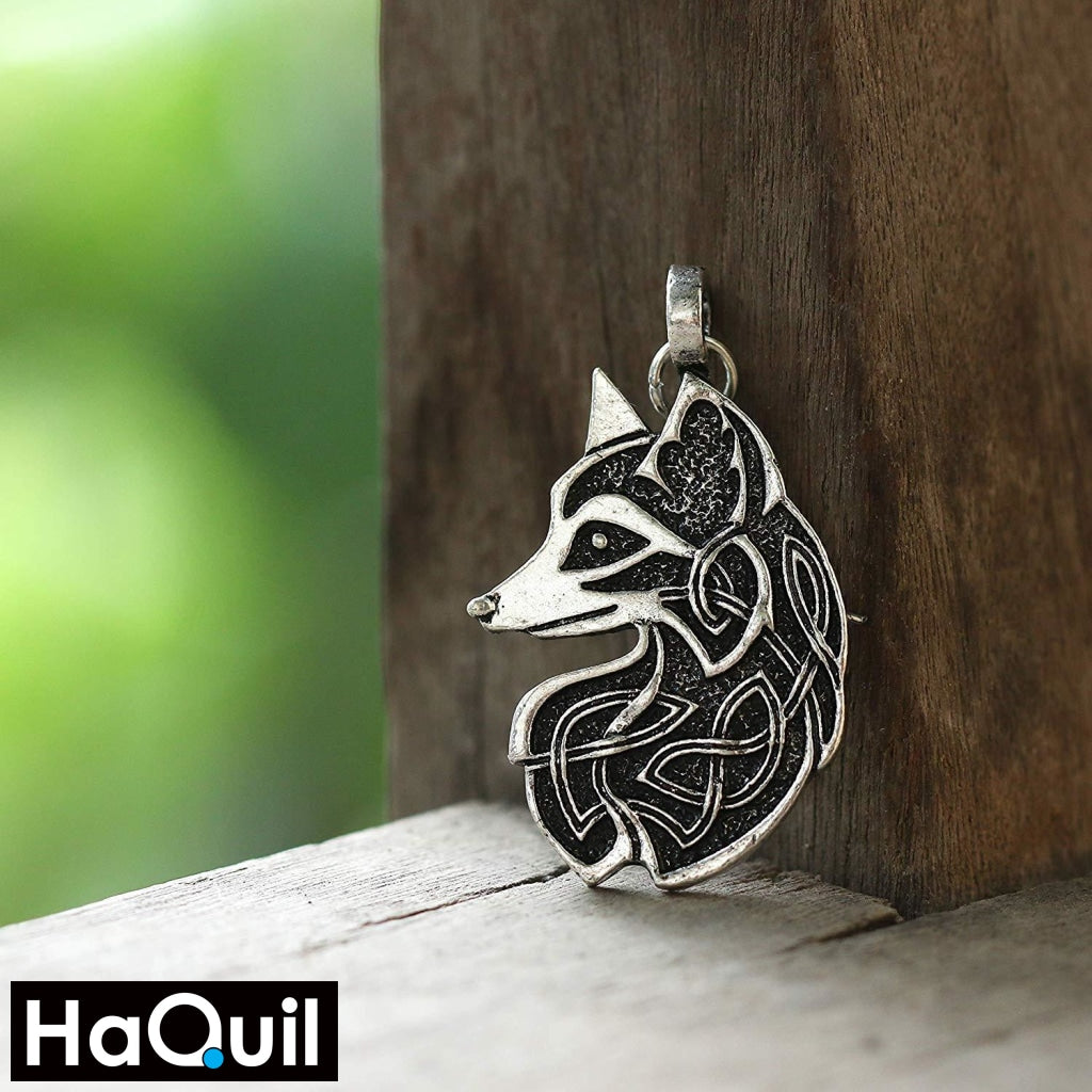 Haquil Viking Celtic Knot Fox Earrings Jewelry
