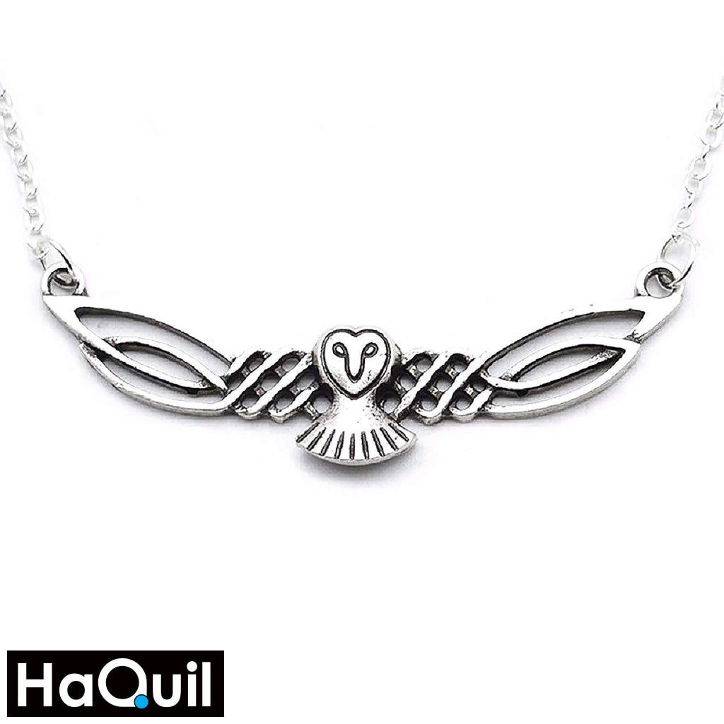 Haquil Viking Celtic Owl Necklace Alloy / Unisex-Adult Metal Jewelry