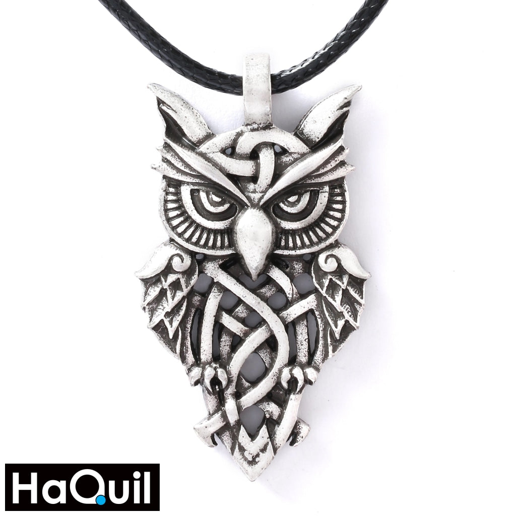 Haquil Viking Celtic Owl Necklace Alloy / Womens Metal Jewelry