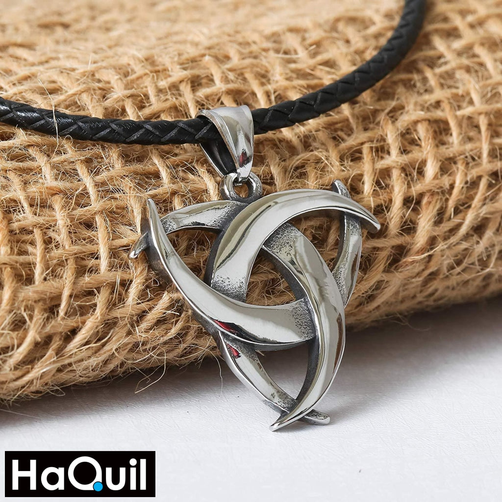 Haquil Viking Celtic Trinity Knot Necklace Jewelry
