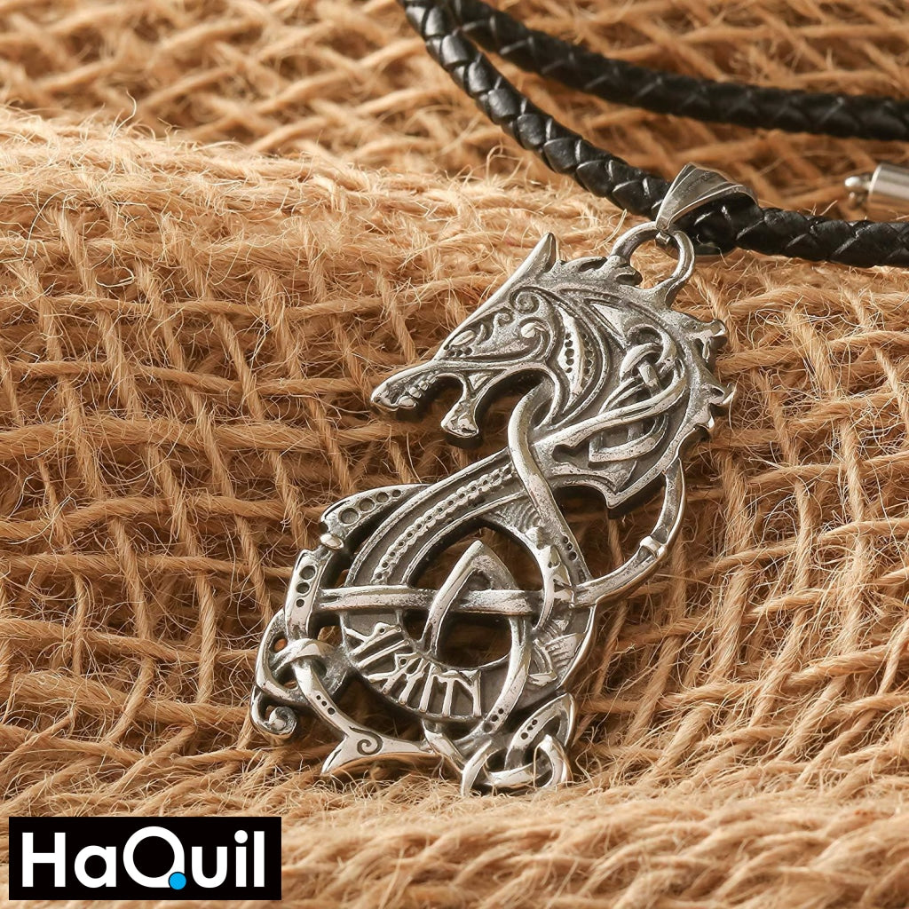 Haquil Viking Dragon Necklace Jewelry