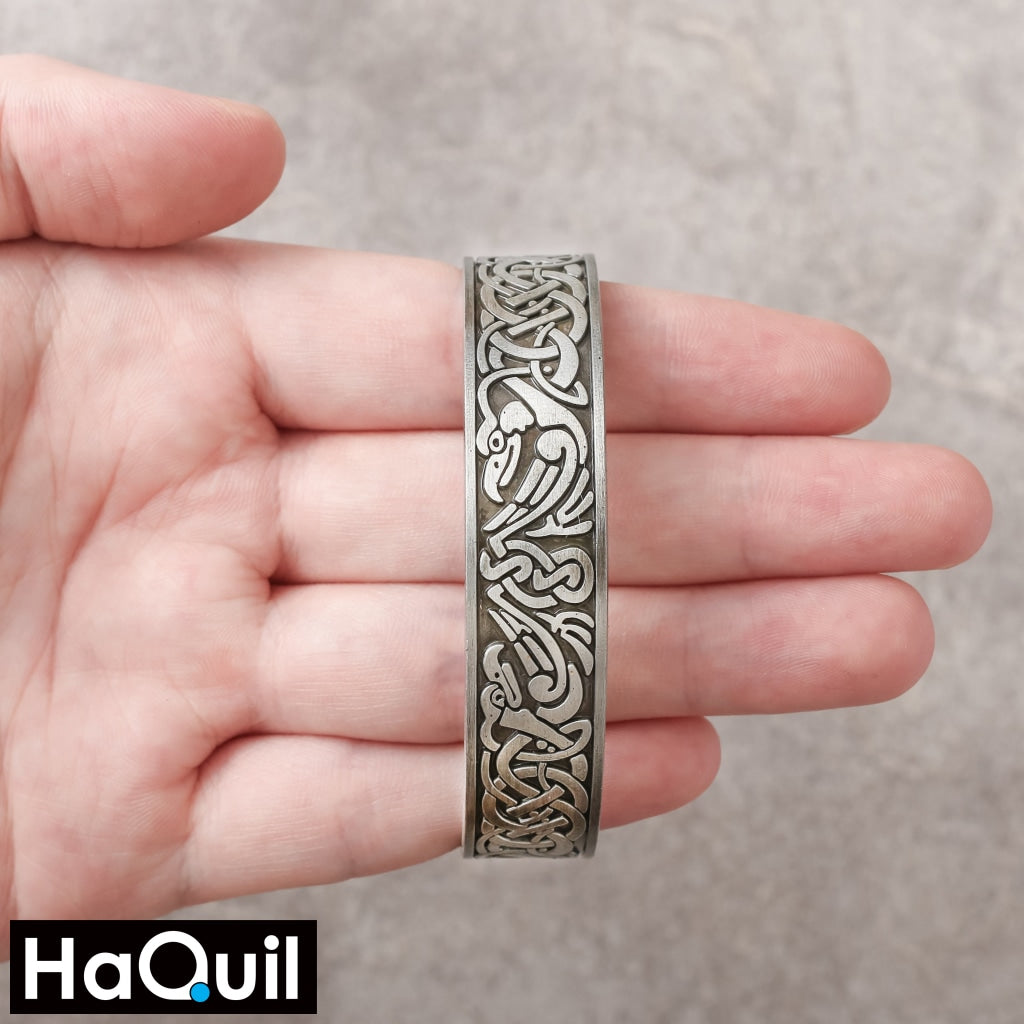Haquil Viking Endless Love Knots Tree Of Life Magnet Bangle Apparel