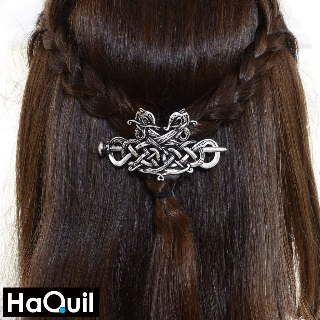 Haquil Viking Feminine Couple Dragon Hairpin Apparel