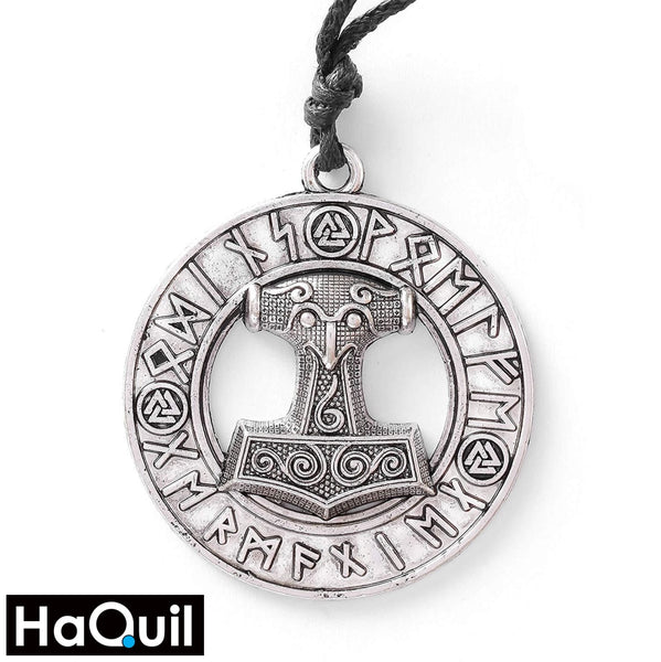 Haquil Viking Hammer Nordic Runes Necklace Alloy / Mens Metal Jewelry