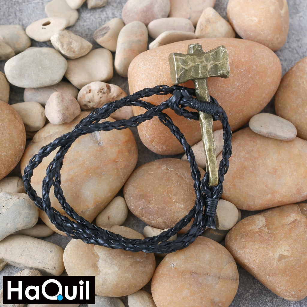 Haquil Viking Handmade Hammer Leather Bracelet Jewelry
