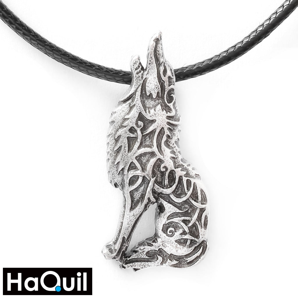 Haquil Viking Howling Wolf Necklace Alloy / Womens Metal Jewelry